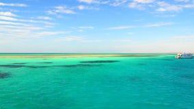 Los filones en las aguas de la turquesa del Mar Rojo Sinaí Egipto metrajes