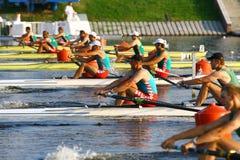 Los finales en el rowing Fotografía de archivo