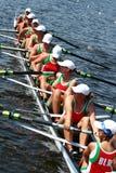 Los finales en el rowing. Imagen de archivo libre de regalías