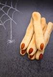 Los fingeres de la bruja de las galletas Imágenes de archivo libres de regalías