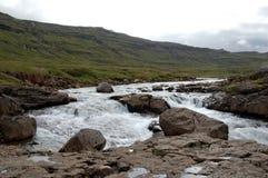 Los fiordos del este de Islandia Foto de archivo libre de regalías