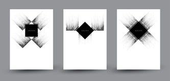 Los fondos abstractos del vector fijaron con los elementos cuadrados de semitono decorativos Imagen de archivo