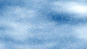 Los fondos de las nevadas en azul se nublan el cielo ilustración del vector