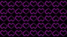 Los fondos del corazón indican los gráficos que ofrecen el día de Valentine's animaron formas y partículas ilustración del vector