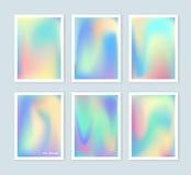 Los fondos olográficos brillantes fijaron para un diverso diseño Imagenes de archivo