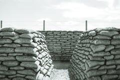 Los fosos de la bolsa de arena Flandes de la muerte WW1 colocan Bélgica Imagen de archivo