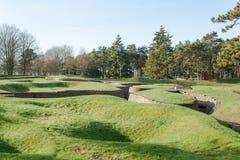Los fosos del campo de batalla en Vimy Francia Fotografía de archivo libre de regalías