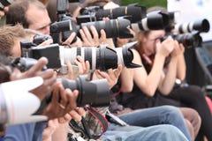 Los fotógrafos Imagen de archivo libre de regalías
