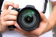 Los fotógrafos. Fotos de archivo