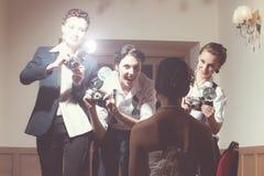 Los fotógrafos están tomando una imagen Fotos de archivo libres de regalías