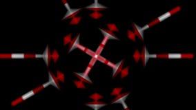 los fractales de la geometría 4k que montan la robótica nana de la automatización, microonda morph luces ilustración del vector