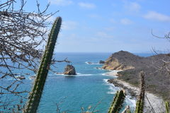 Los Frailes Beach, Ecuador, one of the most beautiful beaches of the country. Picture of Los Frailes beach, a protected beach in Ecuador, South America. The royalty free stock image
