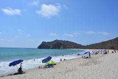 Los Frailes Beach, Ecuador, one of the most beautiful beaches of the country. Picture of Los Frailes beach, a protected beach in Ecuador, South America. The stock photography
