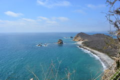 Los Frailes Beach, Ecuador, one of the most beautiful beaches of the country. Picture of Los Frailes beach, a protected beach in Ecuador, South America. The royalty free stock photography