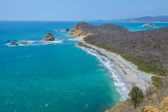 Los Frailes plaża, Machalilla park narodowy, Ekwador obrazy stock