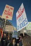 Los franceses ocupan Francia, demostrando Foto de archivo libre de regalías