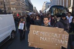 Los franceses ocupan Francia, demostrando Fotografía de archivo libre de regalías