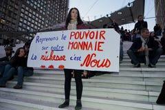 Los franceses ocupan Francia, demostrando Fotos de archivo libres de regalías