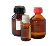 Los frascos con la medicina Foto de archivo libre de regalías