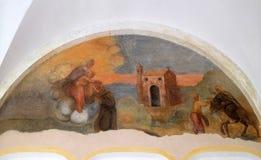 Los frescos con escenas a partir de la vida de St Francis de Assisi Fotografía de archivo libre de regalías