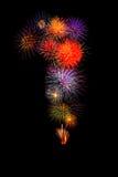 los fuegos artificiales coloridos numeran 1 para 2017 - firew colorido hermoso Imagen de archivo