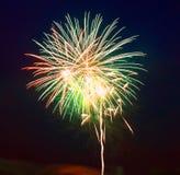 Los fuegos artificiales del 4 de julio Fotografía de archivo libre de regalías