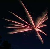 Los fuegos artificiales estallaron 6 Imagen de archivo