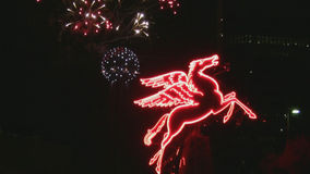 Los fuegos artificiales exhiben en Dallas Texas
