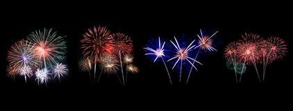 Los fuegos artificiales exhiben en la celebración fotografía de archivo libre de regalías