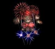 Los fuegos artificiales exhiben en la celebración fotos de archivo