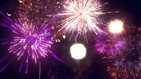 Los fuegos artificiales exhiben la alta definición