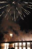 Los fuegos artificiales para San Rainiero en Pisa Imágenes de archivo libres de regalías