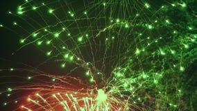 Los fuegos artificiales rojos almacen de video