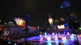 Los fuegos artificiales visualizan durante NDP 2010 Imagen de archivo libre de regalías