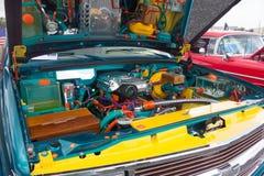 Los funcionamientos internos de un coche clásico según lo visto en una demostración en ocala fotografía de archivo