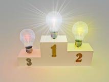 Los ganadores más brillantes de la idea Imagen de archivo libre de regalías