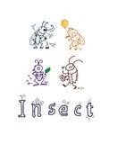 los garabatos fijaron el insecto Imagen de archivo libre de regalías