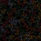 Los garabatos lindos dan el modelo inconsútil exhausto en un fondo negro stock de ilustración