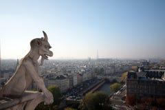 Los Gargoyles de Notre Dame Fotografía de archivo