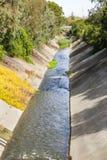 Los Gatos creek on an autumn day, San Francisco bay, California stock image