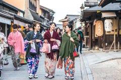Los geishas sonrientes Imagen de archivo