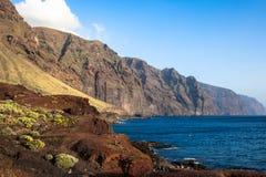Los Gigantes峭壁。 特内里费岛。 西班牙 库存图片