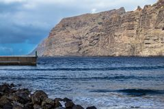 Los Gigantes峭壁,特内里费岛,西班牙 免版税库存照片