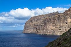 Los Gigantes峭壁,特内里费岛,西班牙 免版税库存图片