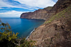 Los Gigantes. Scenic view of Los Gigantes coastline on island of Tenerife, Canary Islands, Spain Stock Photography