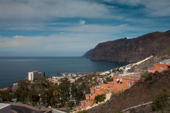 Los Gigantes. View over the high cliffs of Los Gigantes in Tenerife Royalty Free Stock Images