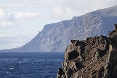 Teneriffa. Los Gigantes - a cliff at tenerife south coast Stock Photos