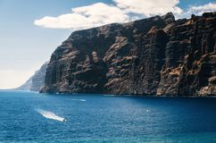 Los Gigantes cliffs on Tenerife. Canary islands, Spain. Stock Images