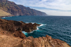 Los Gigantes cliffs view, Tenerife Royalty Free Stock Images