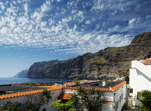 Los gigantes cliffs and village in south tenerife island spain Stock Images